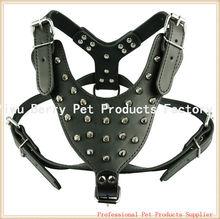 Black Spiked Studded Make Leather Dog Harness for Pitbull Mastiff Boxer
