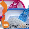 2014 new design plastic cat litter box with free scoop