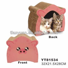 cardboard pet house with fashionable design