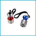 tipo pequeno dom lanterna 6 led luz chaveiro lanterna de alumínio