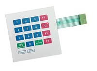 16 keys membrane switch keypad