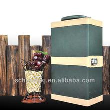 2015Wholesale Competitive Price Leather Wine Box,Portable Wine Gift Box,Wine Bottle Packing Box/Wine Storage Box Case/