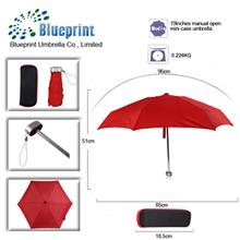 small lady mini 5 fold pocket telescopic uv polka dot umbrella with carrying case gift box