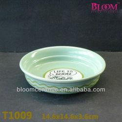 Novelty porcelain pet smart dog bowl