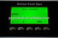 Desintoxicación iónica pie de la máquina con azul/verde luz de fondo de pantalla de visualización