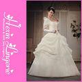 2015 moda nobile ingrosso lunghi abiti da sposa manica