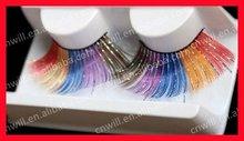 2014 The Latest Popular False Eyelashes Fashionable Fake eyelashes Colorful False Eyelashes Crazy False Eyelash