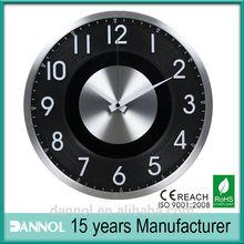 12inch guangzhou metal 3d wall sticker clock 3d pictures/quartz clock accessories