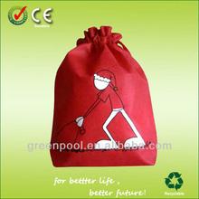 2015 customized promotion non-woven drawstring shopping bag