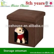 Multifunction novel foldable cube pet house ottoman