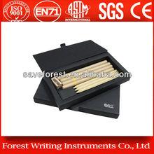 kraft paper ballpoint pen, pencil and sharpener set