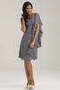HC2141 Obliqued shoulder neckline one shoulder plain knee length short very cheap zipper dark grey one shoulder chiffon dress