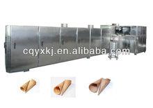 Automatic ice cream sugar rolled cone baking machine