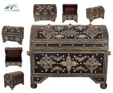 Moroccan Handmade wood box decorated