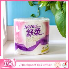 100% virgin wood pulp plastic toilet tissue paper holder