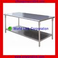 2 capas de acero inoxidable de la cocina mesas de esquina