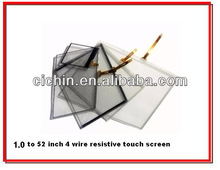 Small size 4 wire resistive touch screen panel with size 1.4, 1.8, 1.9, 2, 2.2, 2.4, 2.5, 2.6, 2.8 inch