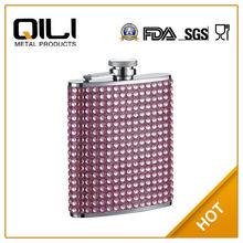 FDA 7oz matt finish stainless steel miniature wine bottles with drill