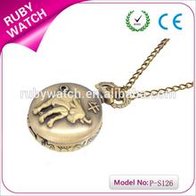 2014 new arrival bull pocket watch quartz analog pocket watch