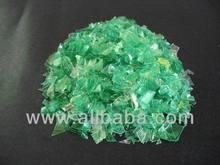 Recycled Pet Green plastic scrap
