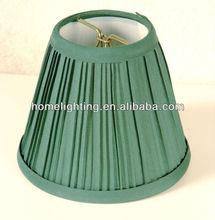 Hunter Green Cloth Mini Lamp Shade Wholesale- Clip on bulb,SC-0575