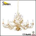12 ışıkları klasik kristal altın folyo vatansever aydınlatma