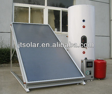 Split solar hot water system with flat panel solar collector