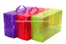 2014 hot design clear plastic shoe box