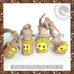 smile face soft ceramic good scents auto air freshener