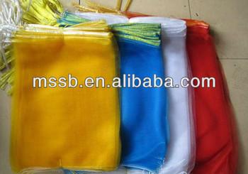 HDPE monofilament wholesale cheap nylon mesh drawstring bags