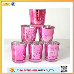 China manufacture of Valentine glass candle holder