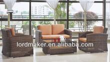 Modern fashion outdoor garden luxury rattan sofa