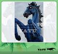 de fibra de vidrio de dibujos animados decoración estatua del caballo