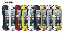 2014 Love Mei For iPhone 5 Waterproof Shockproof Case With Tempered Glass Accept Paypal