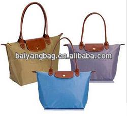 Famous brand foldable nylon shopping tote bag