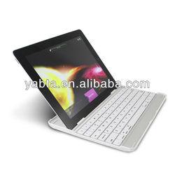 aluminum alloy bluetooth keyboard for ipad 4 3 2, ultra-thin bluetooth keyboard case for ipad 4 3 2 keyboard for ipad 9.7 inch
