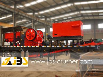 mining crusher plant mobile use engine power