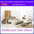 Talladas a mano cama de caoba de diseño clásico cama de madera