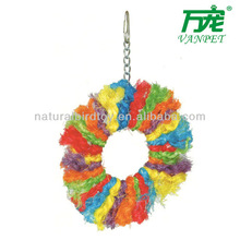 Colorful sisal rope bird perch