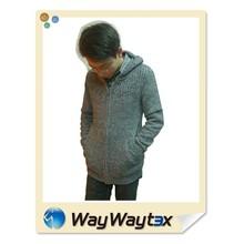 2015 nuovo design poliestere riciclato filati maglione uomo felpe con cappuccio stile