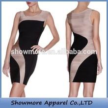 Style Number N146 New designer beige bandage dress dress simple party dress