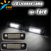 High quality Led license plate lights 18SMD led rear number license plate lamp for Fusion