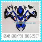 For SUZUKI GSXR600 GSXR750 2006 2007 body kit bodywork