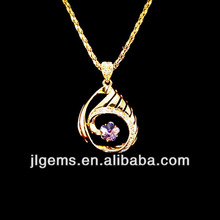 2014 China original classic bright wholesale fashion gold oval alloy pendent