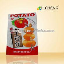 for potato three sides seal bag food packaging bag