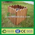 flor do jardim de madeira composto plástico wpc caixa