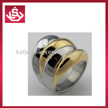 Fashion KSF gold & steel stainless steel infinite rings jewelry wholesale