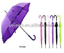 ladies stick auto open water magic umbrella,color changing umbrella