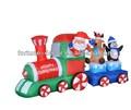 De alta 210cm inflables de navidad santa claus, renos y pingüinos en el tren