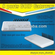 GOIP 8 voip net GSM Gateway for free calling